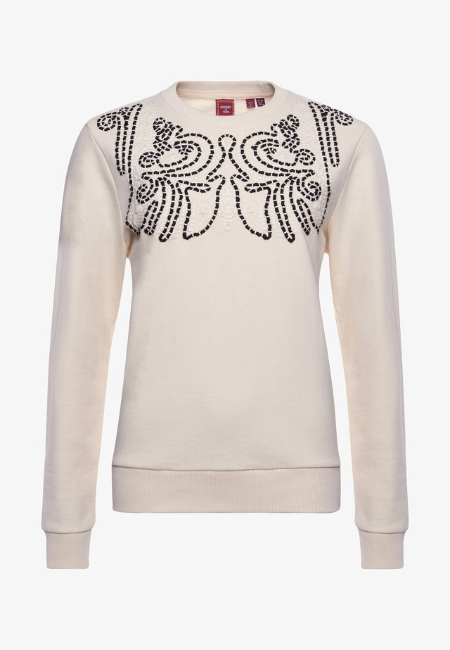 SUPERDRY BOHEMIAN CRAFTED  - Sweatshirt - cream quartz