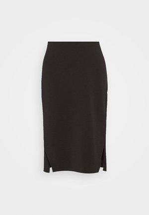 SLFTENNY MIDI SKRIT - A-line skirt - black