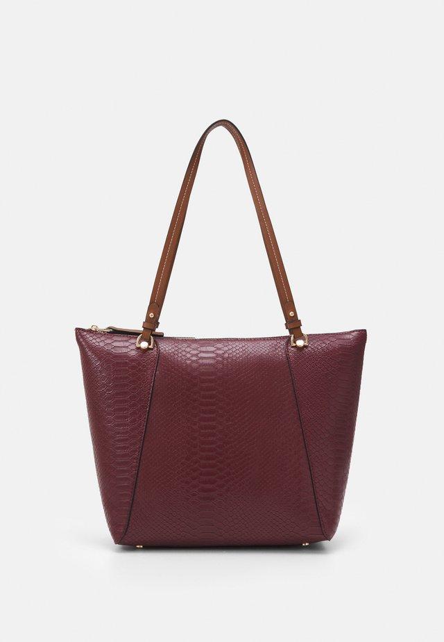 SHOPPER BAG SNAKIE SET - Shopping bag - wine