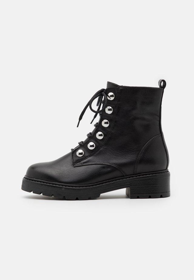 FELINANDE - Šněrovací kotníkové boty - noir