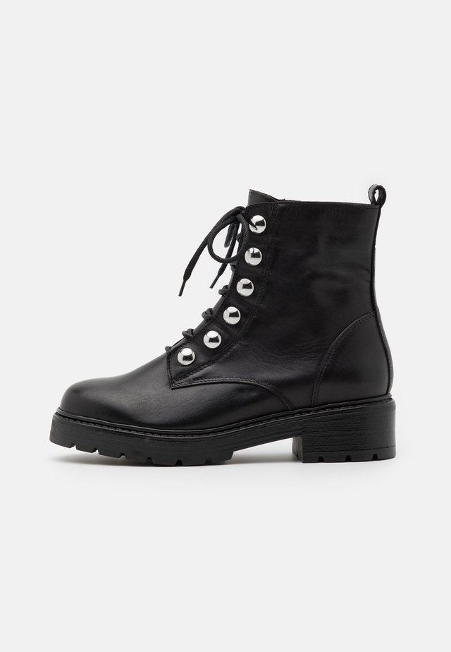 FELINANDE - Veterboots - noir