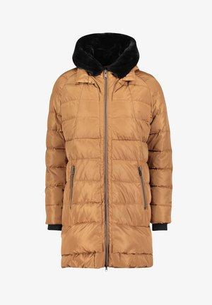 MIT KAPUZE - Winter coat - light cognac