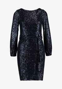 Dorothy Perkins - SEQUIN LONG SLEEVE FIT AND FLARE - Cocktailkjole - navy - 5