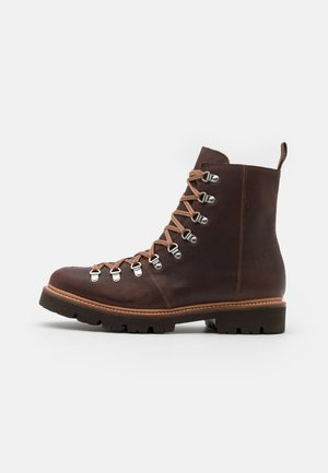 BRADY - Lace-up ankle boots - brown