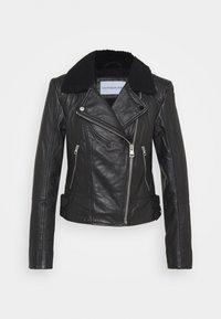 Calvin Klein Jeans - Leather jacket - black - 4