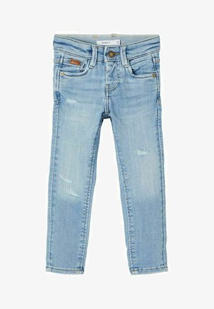 EXTRA - Slim fit jeans - light blue denim