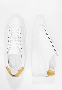 Calvin Klein - SOLANGE - Trainers - white/gold - 3