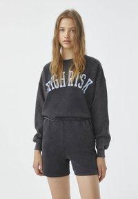 PULL&BEAR - Shorts - mottled dark grey - 3