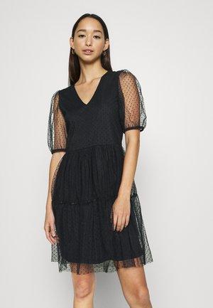 VMLUCILLE V NECK DRESS - Day dress - black
