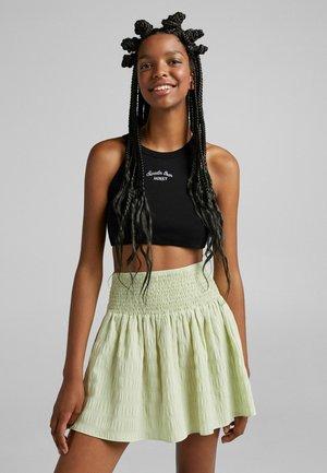 MIT VICHYKAROS - A-line skirt - green