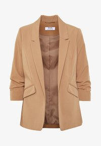 Dorothy Perkins Petite - EDGE TO EDGE ROUCHED SLEEVE JACKET - Blazer - light brown - 4