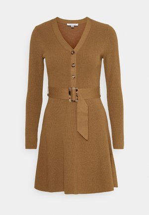 FLARE DRESS - Jumper dress - camel