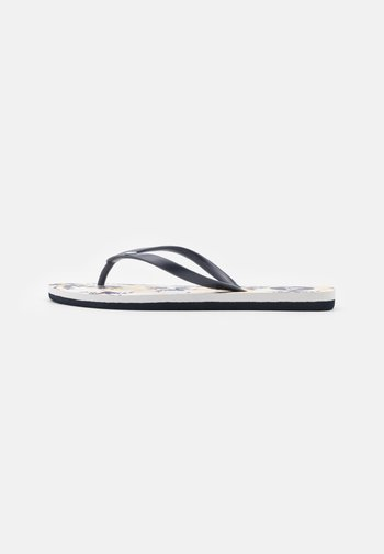 TO THE SEA DITSY - T-bar sandals - navy/white