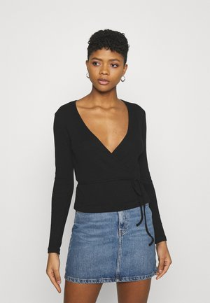 ENALLY - Long sleeved top - black