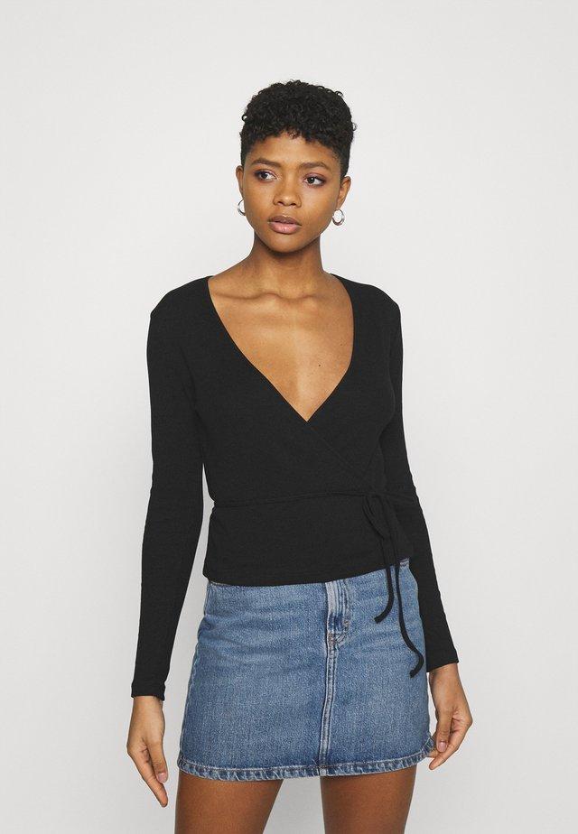 ENALLY - Maglietta a manica lunga - black