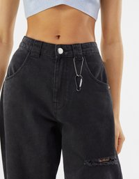 Bershka - Straight leg jeans - dark grey - 3