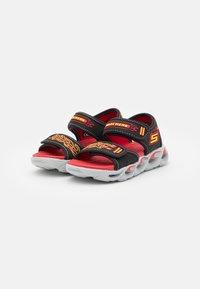 Skechers - THERMO-SPLASH - Sandals - black/red/yellow - 1