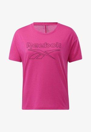 WORKOUT READY SUPREMIUM SLIM FIT BIG LOGO T-SHIRT - Camiseta estampada - pink