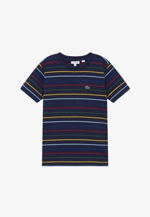 TEE TURTLE NECK - Print T-shirt - marine/multicolor
