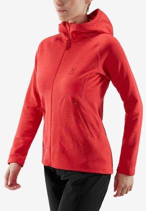 Fleece jacket - hibiscus red