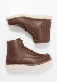 New Look - 75 HIKER BOOT - Bottines à lacets - dark brown - 1
