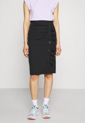 LEAH SIDE SKIRT - Pencil skirt - black