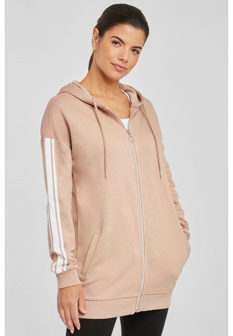 Bench - Zip-up hoodie - camelfarben-weiß