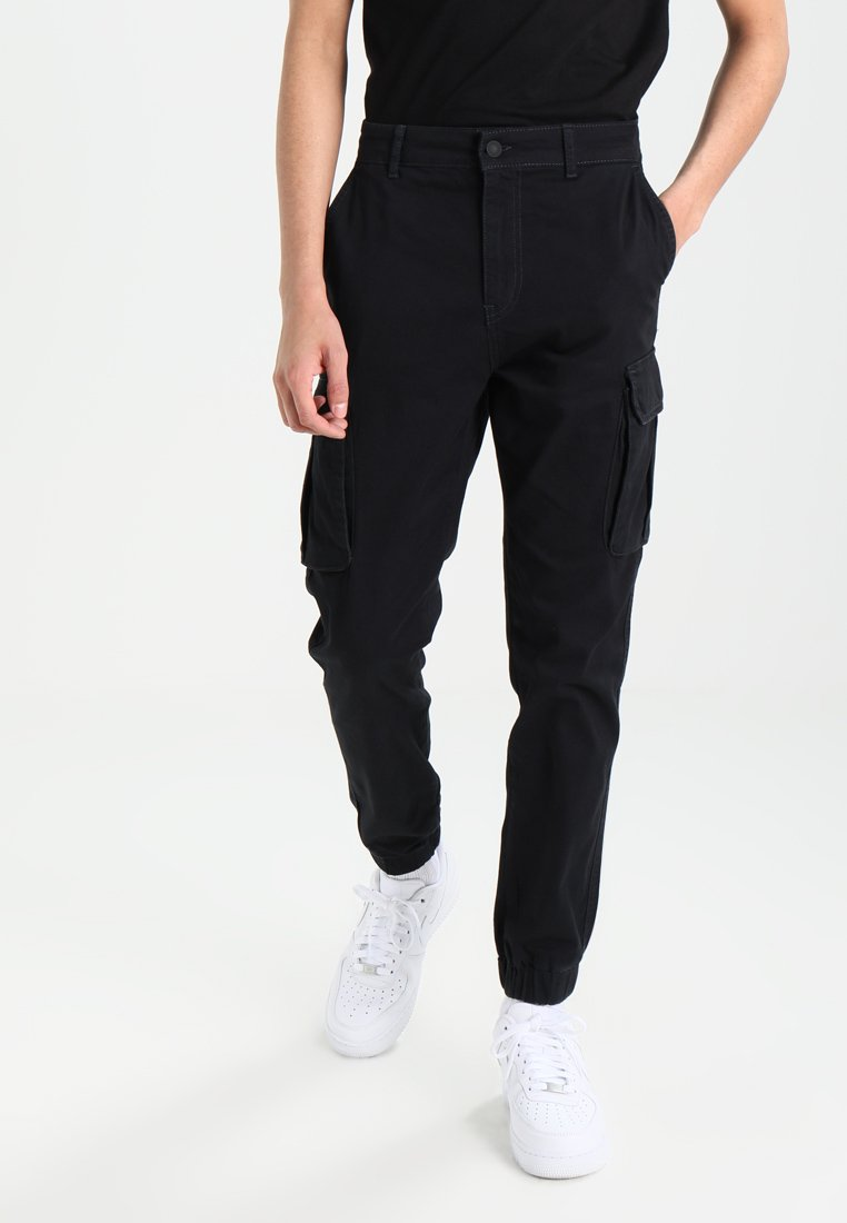 Pier One - Pantalon cargo - black