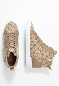 Guess - PORTLY - Sneaker high - beige/brown - 3