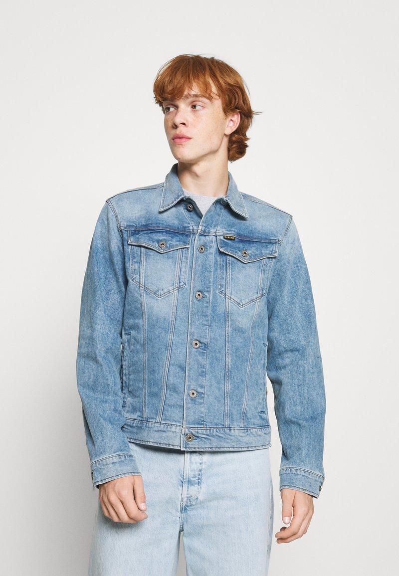 G-Star - 3301 SLIM - Denim jacket - denim/sun faded stone