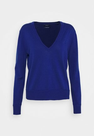 LIGHT VNECK - Sweter - crisp blue