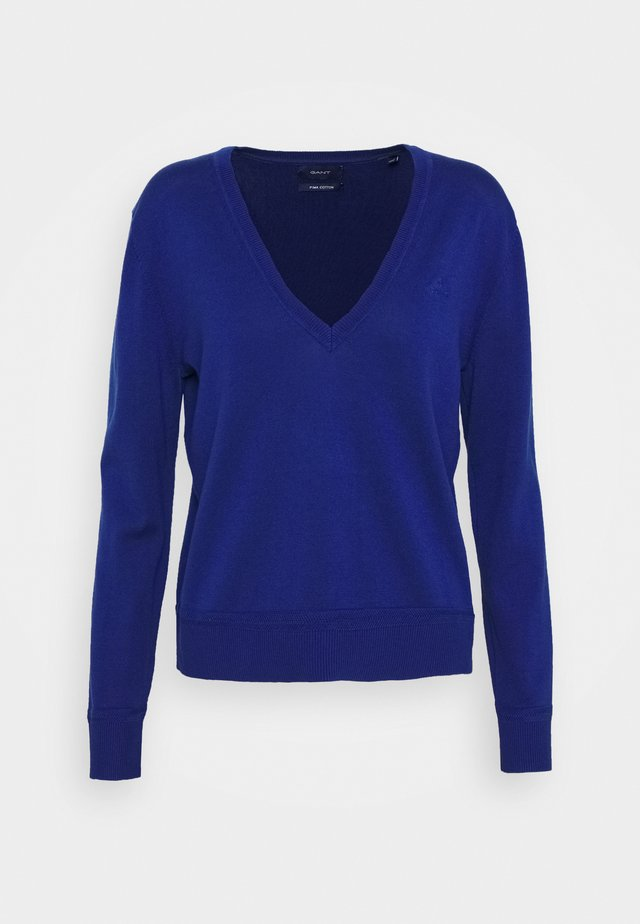 LIGHT VNECK - Pullover - crisp blue