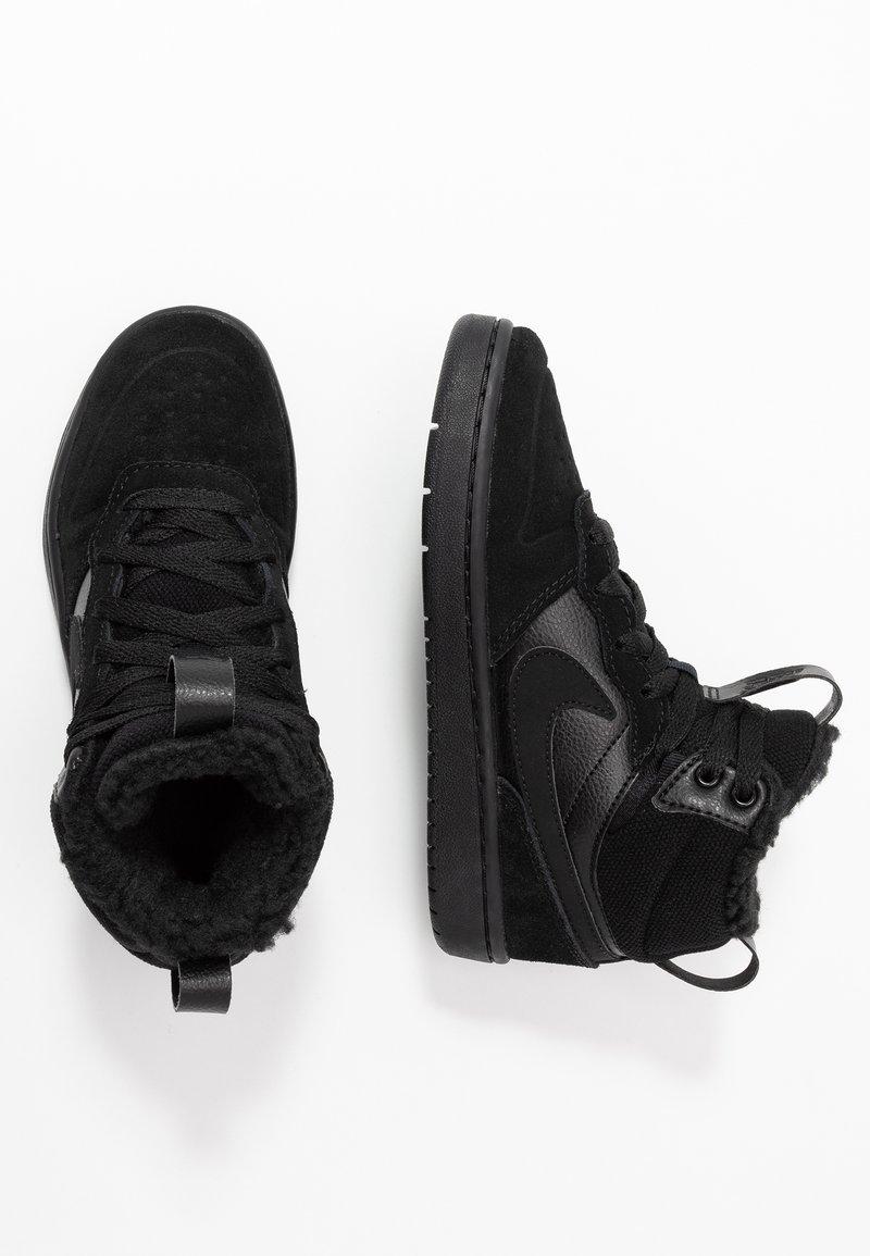 Nike Sportswear - COURT BOROUGH MID BOOT WINTERIZED - Skeittikengät - black/white