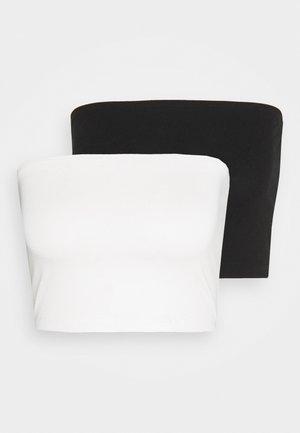 TUBE 2 PACK - Top - black/white