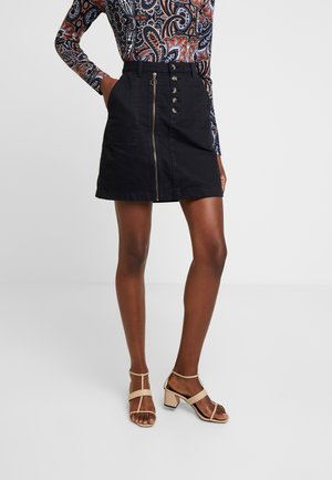 SKIRT - Denim skirt - black