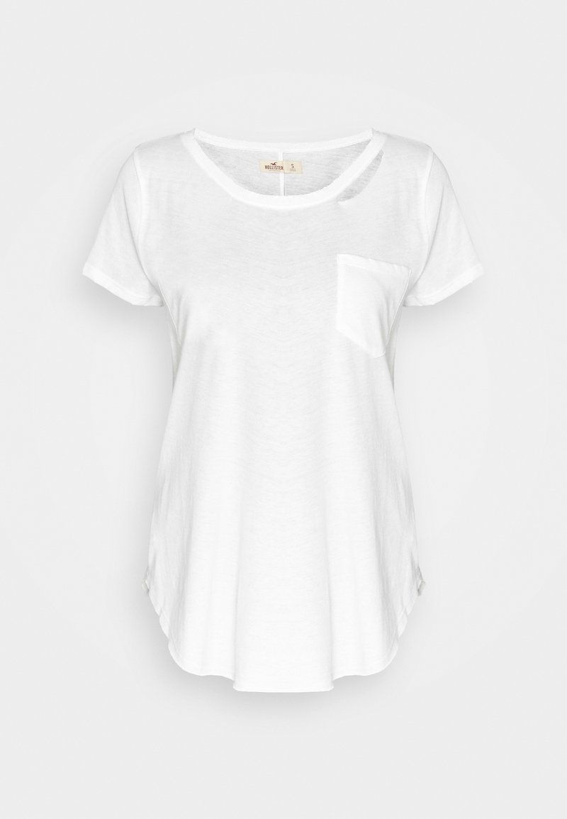 Hollister Co. - DESTROY EASY TEE - Print T-shirt - white