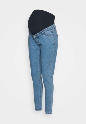 MATERNITY HIGHWAISTED COMFORT STRETCH - Vaqueros boyfriend - blue