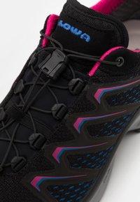 Lowa - MADDOX GTX - Hiking shoes - black/fuchsia - 5