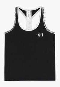 Under Armour - KNOCKOUT TANK - Sports shirt - black /white - 0