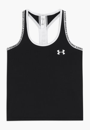 KNOCKOUT TANK - Sports shirt - black /white