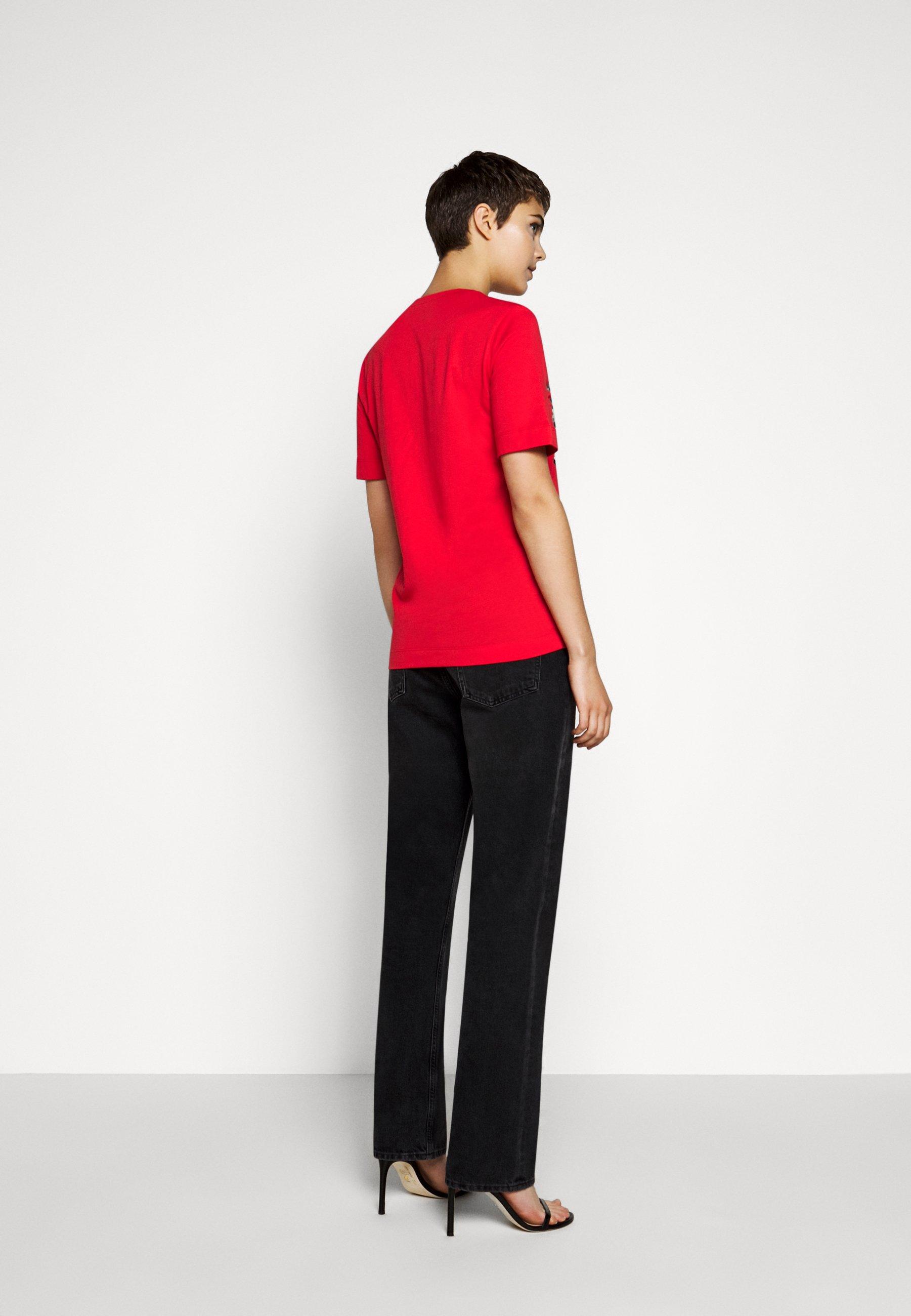 Love Moschino T-shirts Med Print - Red/rød