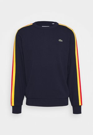 RAINBOW TAPING - Sweatshirt - navy blue/wasp/gladiolus/utramarine/white