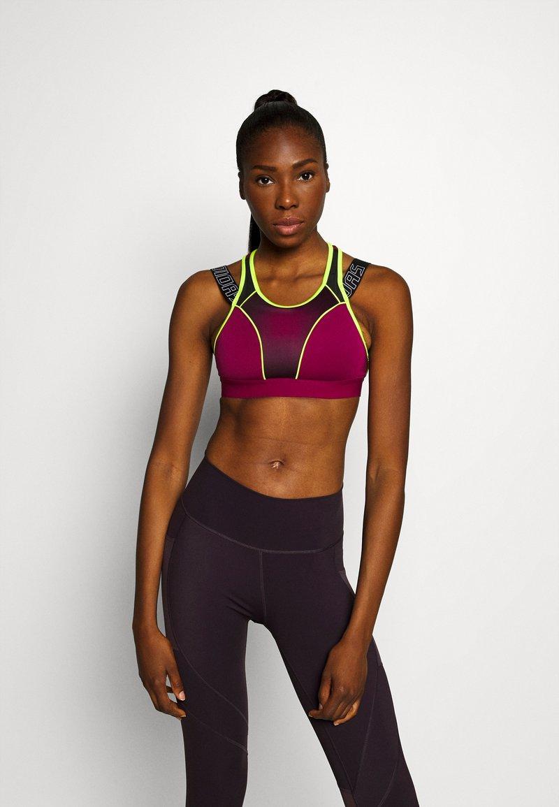 adidas Performance - Urheiluliivit: korkea tuki - berry