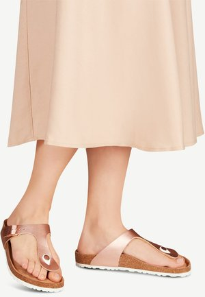 TAMARIS ZEHENTRENNER - T-bar sandals - rose gold