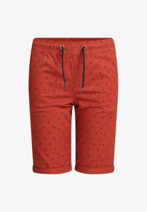 MET PRINT - Shorts - terra cotta