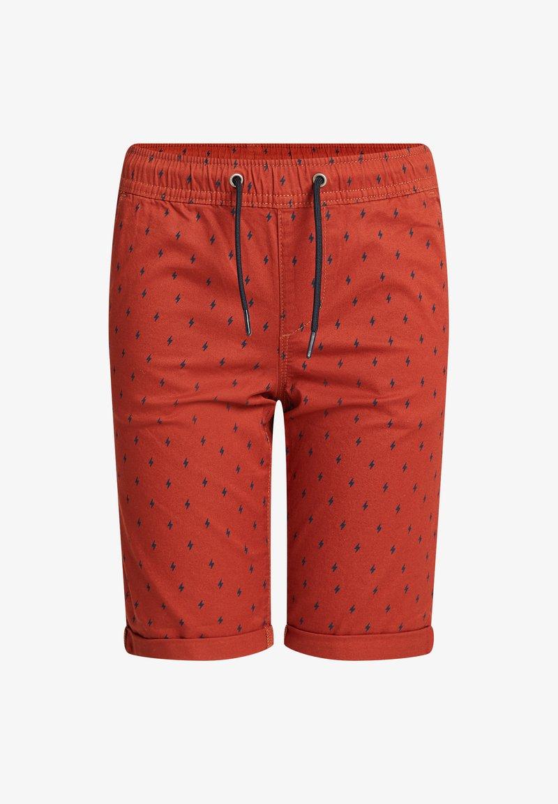 WE Fashion - MET PRINT - Shorts - terra cotta