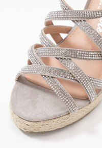 New Look Wide Fit - WIDE FIT OSPARKLE - High heeled sandals - mid grey - 2