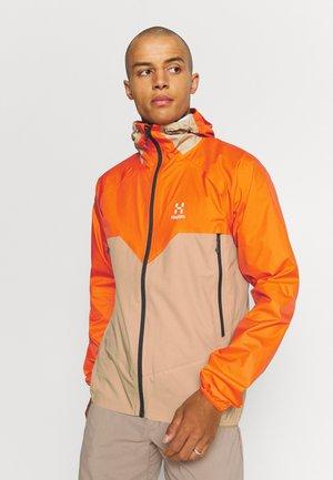 PROOF MULTI JACKET MEN - Hardshell jacket - flame orange/sand