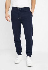 GANT - THE ORIGINAL PANT - Tracksuit bottoms - evening blue - 0