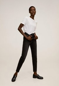 Mango - NEWMOM - Jeansy Slim Fit - black denim - 1